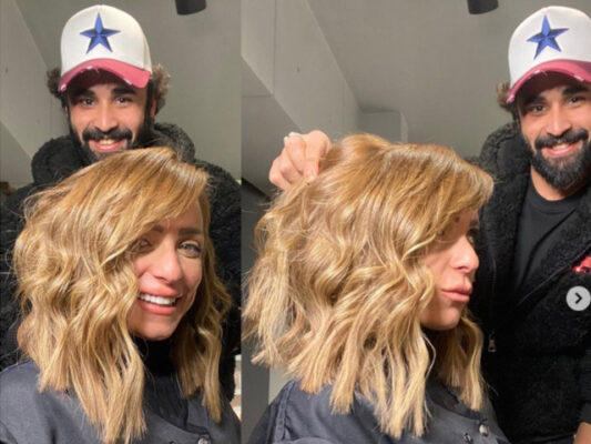 Check out Reem El Baroudy new glamorous hairstyle.