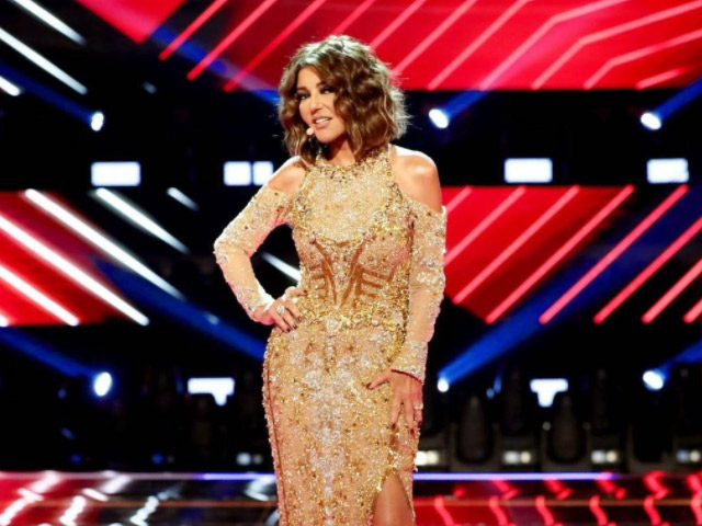 The Diva Samira Said shining in the grand Final of mbc the voice