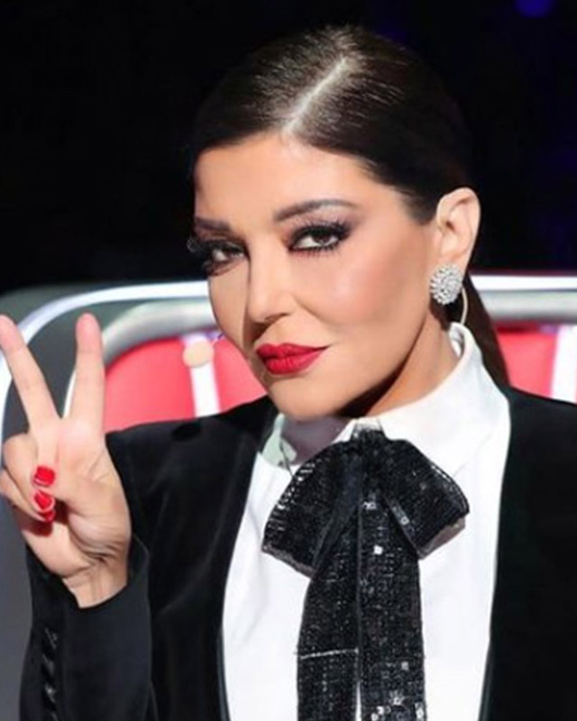 The iconic Samira Said all glammed up.